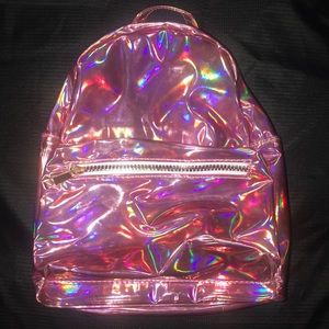 Pink Holographic Backpack